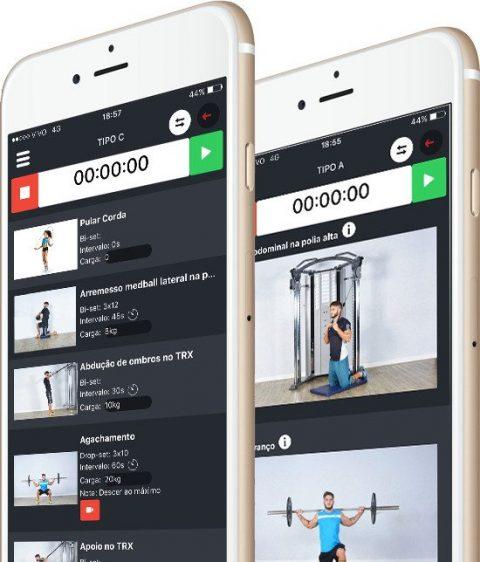 Aplicativo para montar treino de academia
