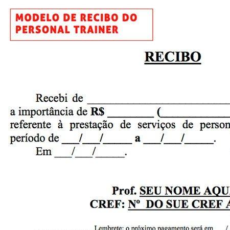 modelo de recibo en word