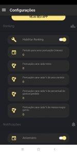 Configurações de Ranking