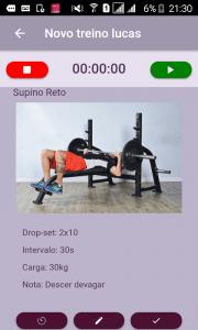 Modo visualização de treino