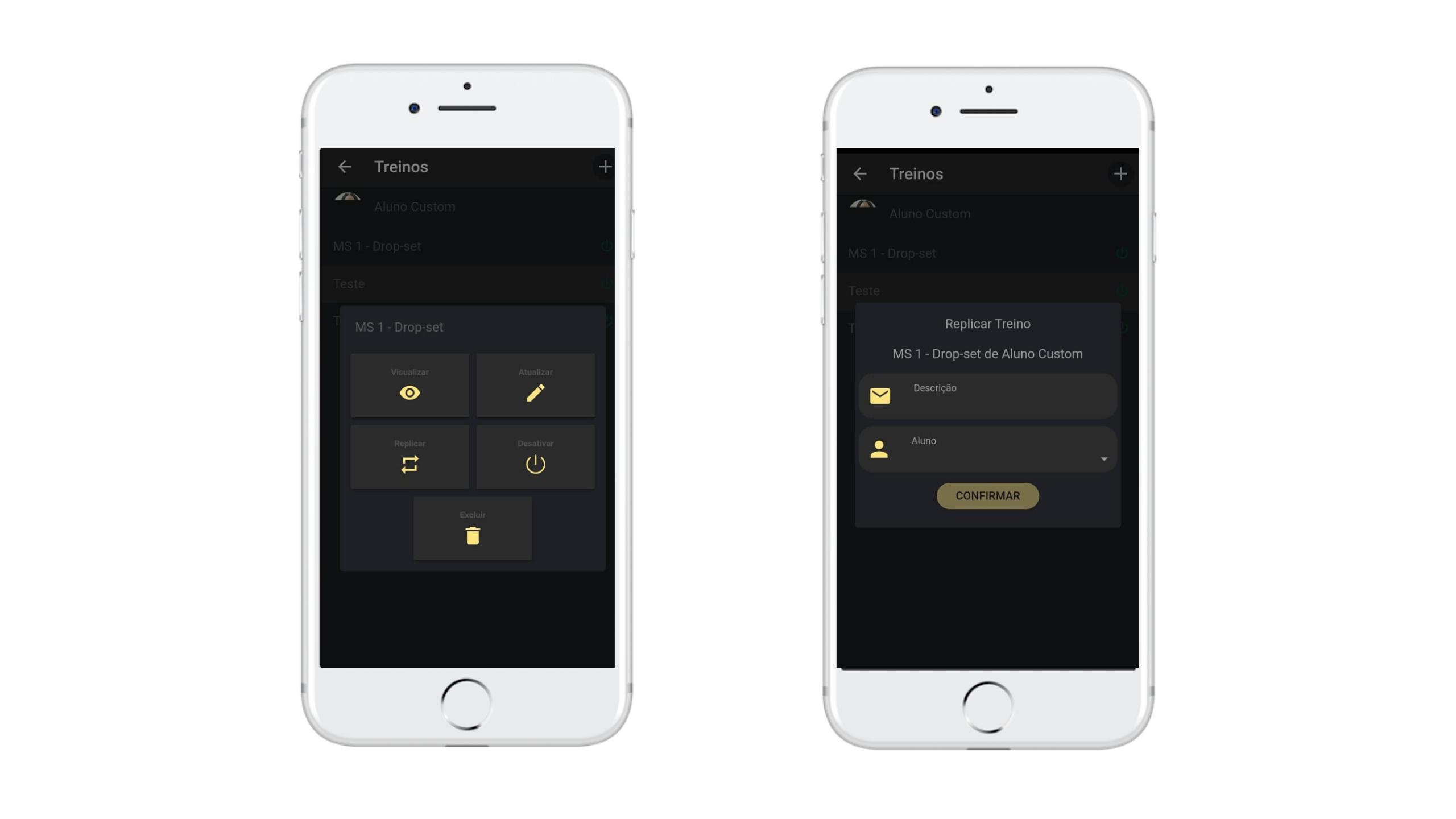 Como replicar treino no app para personal Nexur
