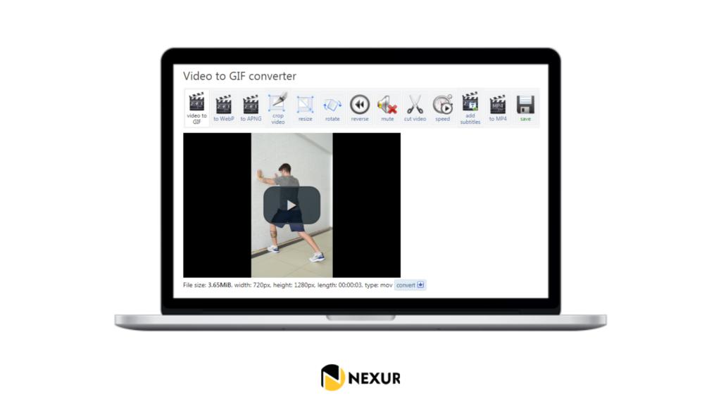 Como converter exercício de vídeo para gif