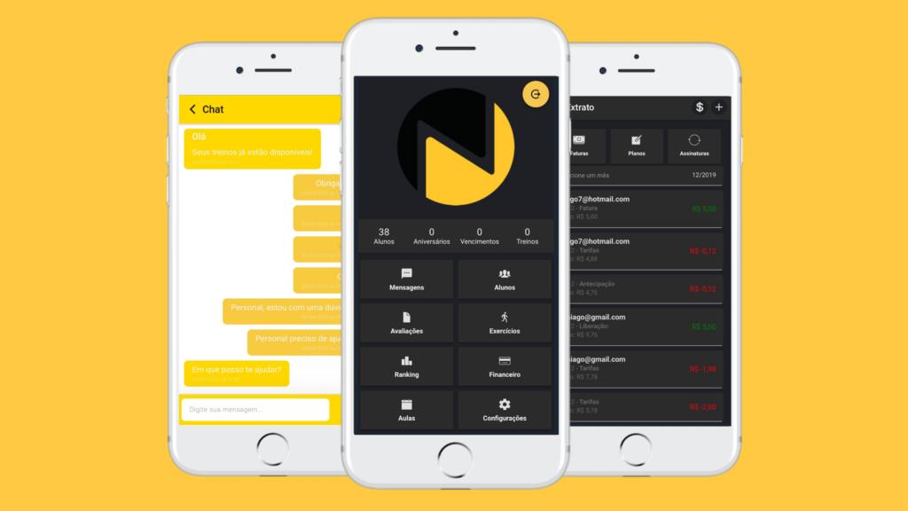 Novo app Nexur para personal trainer