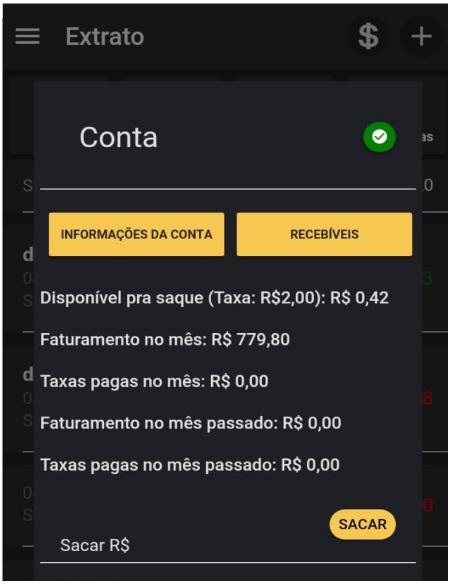 Como tirar extrato da sua conta no app Nexur