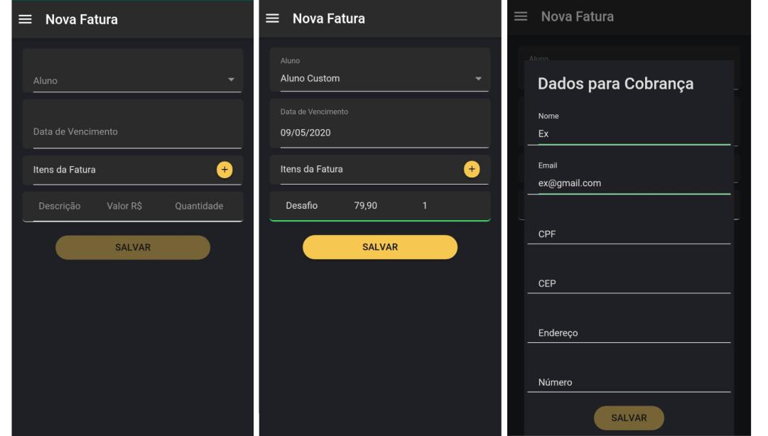 Como gerar fatura para seus clientes no app Nexur