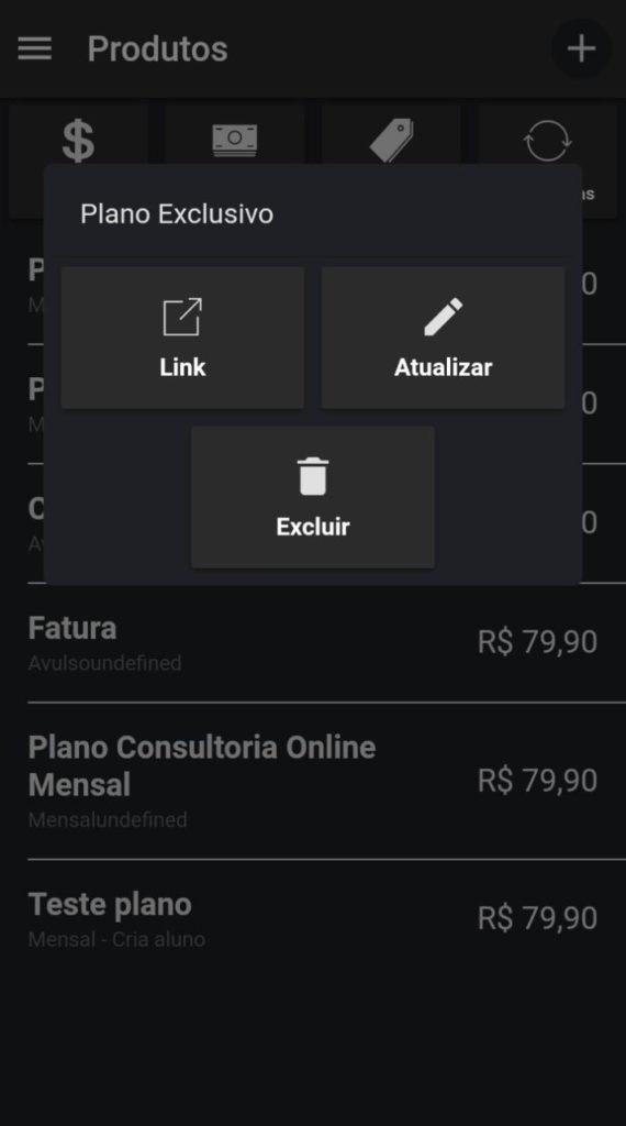 Financeiro Nexur - Envie Link de pagamento
