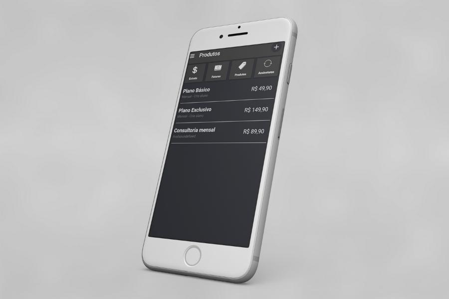 Funcionalidade Financeiro para todos os planos app Nexur