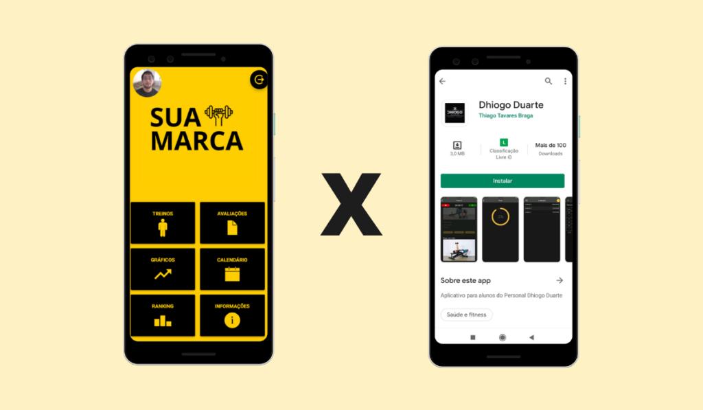 Comparativo do App Customizado x App Próprio da Nexur